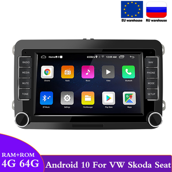 2 din Car Radio Android 10 GPS Car Multimedia Player For VW/Volkswagen/Golf/Passat/Skoda/Seat/Octavia/Tiguan Autoradio Android image