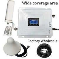 2G 3G 4G potrójny zespół komórki wwmacniacz sygnału telefonu GSM 900 LTE 1800 WCDMA 2100 mhz mobilny wzmacniacz sygnału komórkowego anteny zestaw okładka