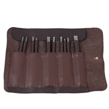 лучшая цена 10Pcs Hand Tools Tungsten Steel Carving Knife Set Seal Stone Graver Lettering Engraving Tool With Leather Handle+ Leather Bag
