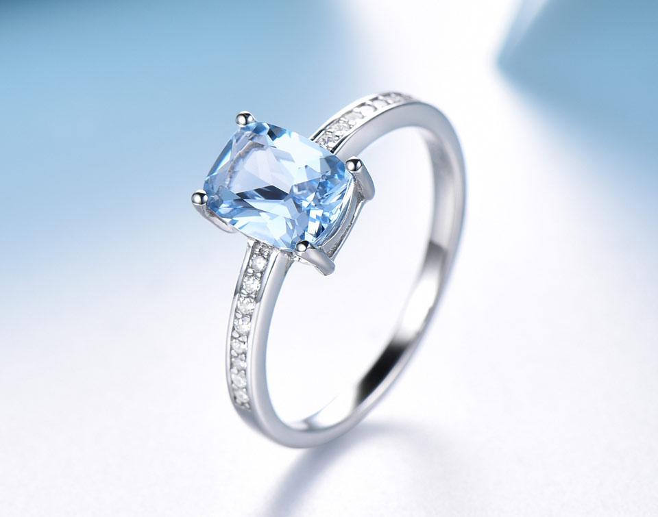 UMCHO Sky blue topaz silver sterling jewelry sets for women S011B-1-PC (9)