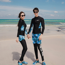 Rashguard for women men swimsuit Long Sleeves Shirt Pants Shorts Black With Print Couple's Swimwear Sportsuit Wetsuit 2020 New