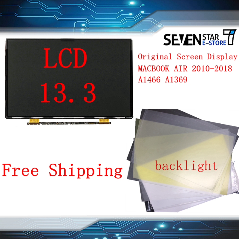 "Brand New 13.3"" Laptop A1369 Display Matrix for Macbook Air 13"" A1466 LCD Screen LP133WP1 TJA7 LP133WP1 NT133WGB N81 2010 2018-in Laptop LCD Screen from Computer & Office"