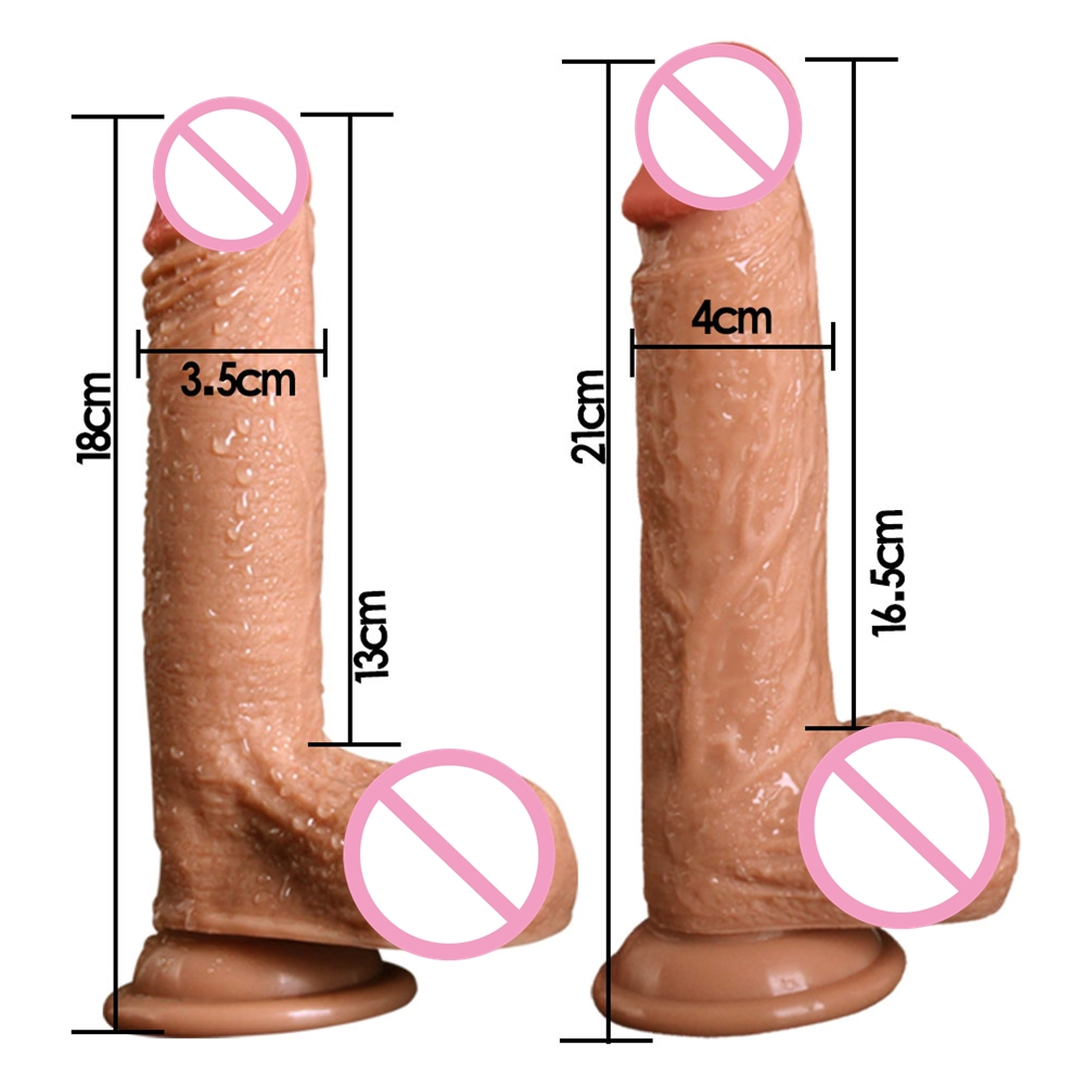 7/8 Inch Huge Realistic <font><b>Dildo</b></font> Silicone Penis Dong with Suction Cup <font><b>for</b></font> <font><b>Women</b></font> Masturbation Lesbain <font><b>Sex</b></font> <font><b>Toy</b></font> female <font><b>toys</b></font> image