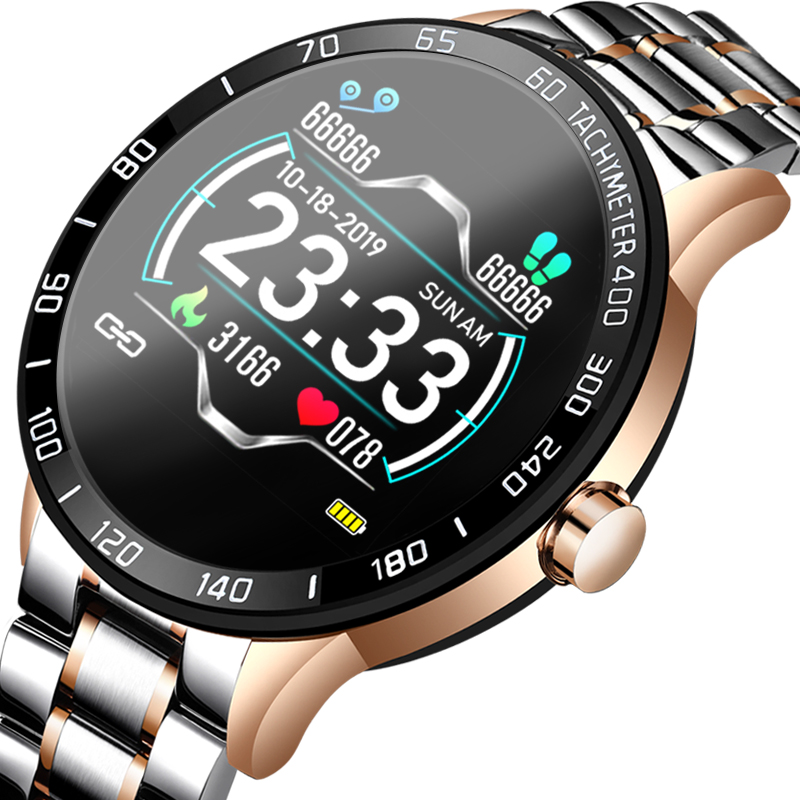 LIGE 2020 New Smart Watch Men OLED Color <font><b>Screen</b></font> Heart Rate Blood Pressure Multi-Function Mode Sport <font><b>smartwatch</b></font> fitness Tracker image