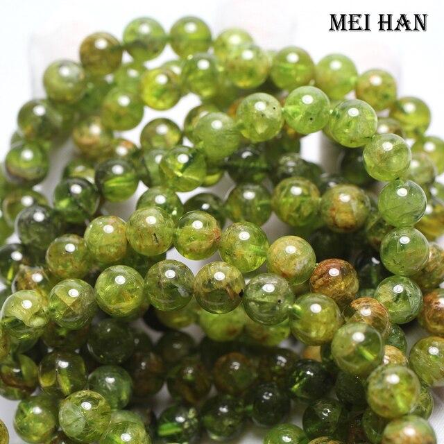 Meihan Peridot Tự Nhiên 9 + 0.3 Mm (21 Hạt/Bộ/26G) tròn Trơn Đá Quý Hạt Đá
