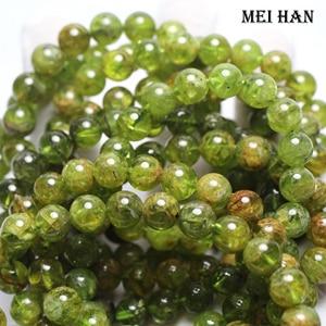 Image 1 - Meihan natural peridot 9+ 0.3mm (21 beads/set/26g) smooth round gem stone beads