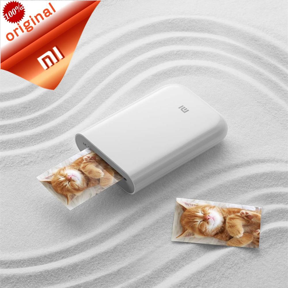 Xiaomi Mi AR Printer 300dpi Portable Photo Mini DIY Share Bluetooth AR Video Printing 500mAh Pocket Printer With Mijia App