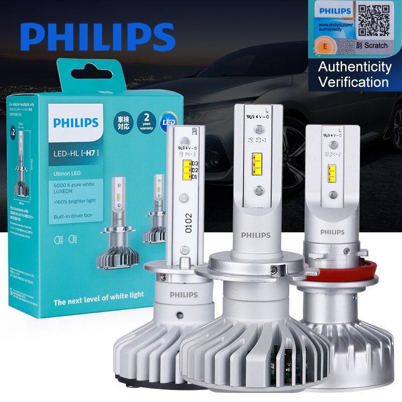 2x Philips H4 H7 светодиодный H1 H11 9005 9006 X-treme Ultinon Эфирное светодиодный 200% ярче, чем автомобильное Авто Luces фары Противотуманные фары 6000 К белый свет