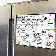 A4 белая доска сухое стирание сверхмощный Магнитный ежемесячный календарь на холодильник прочный изготовлен из высококачественного поверхностного материала