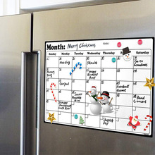 Calendario para refrigerador mensual con gran resistencia magnética y borrado en seco con pizarra blanca A4, fabricado con Material de superficie de la más alta calidad
