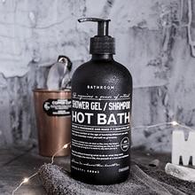 Storage Bottle Bath-Shampoo Glass Liquid-Lotion Travel Black Nordic Portable 500ml Letter