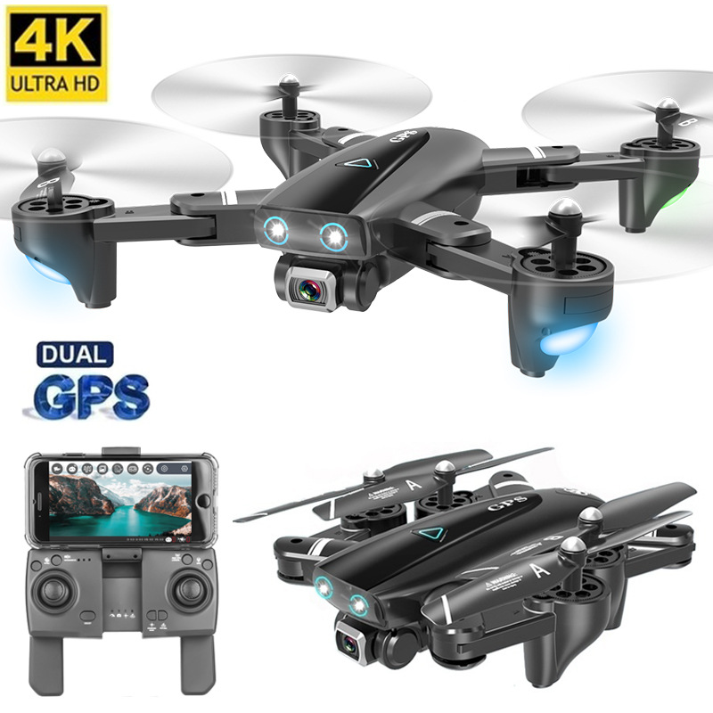 4k Folding GPS Unmanned Aerial Vehicle Aerial Photography 1080p Double Smart XONIX Positioning Return Four-axis Aircraft Remote