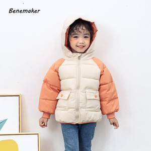 Image 4 - Benemaker מעיל החורף לילדים ילדה מעיילי סרבל פעוט סלעית מעיל בגדי תינוק מעיל רוח ילד הלבשה עליונה YJ116