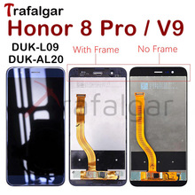 Trafalgar Display for Huawei Honor 8 Pro LCD Display Touch Screen With Frame For Honor 8 Pro Display DUK L09 Replacement