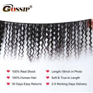 Image 2 - Gossip Deep Wave Bundles Deal Brazilian Hair Weave Bundles 100% Human Hair Weaves Non Remy Hair Extension 8 28 Bundles