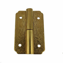 Antique Brass Mini Cabinet Drawer Door Butt Hinges Jewelry Boxes Decorative Hinges Chinese Furniture Hardware