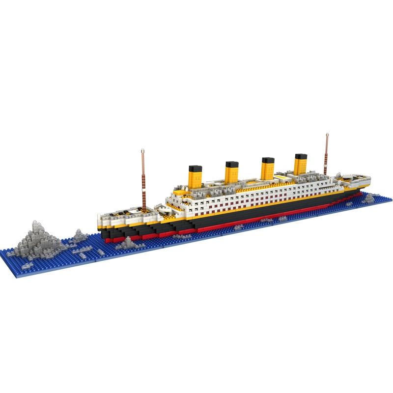 LOZ The Titanic DIY Assemble Building Blocks Model Classical Toys Gift For Children Compatible With LOZ Not Legoinglys Friends