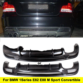 Carbon Fiber Racing Rear Diffuser Lip Spoiler for BMW E82 E88 M Sport 2 Door Only 2007-2013 Convertible Non Hatchback Car Body image