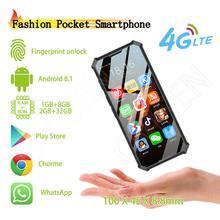 Melrose 2019END Карманный 4G LTE Android смартфон gps 3,5 ''распознавание лица резервный мобильный телефон боковой разблокировка отпечатков пальцев