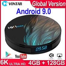 HK1 Max Android TV, pudełko Android 9.0 Smart TV Box TV, pudełko 4K czterordzeniowy 2.4G/5G WiFi BT4.0 odtwarzacz multimedialny 4GB RAM 64G/128G ROM PK X96/H96 Max