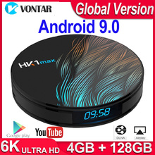 HK1 Max 안드로이드 TV 박스 안드로이드 9.0 스마트 TV 박스 4K 쿼드 코어 2.4G/5G 와이파이 BT4.0 미디어 플레이어 4GB RAM 64G/128G ROM PK X96/H96 Max
