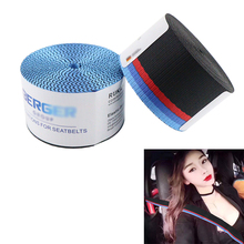 Universial Car accessories black red blue light mix Seat belt webbing strap car auto seat ribbon European for BMW