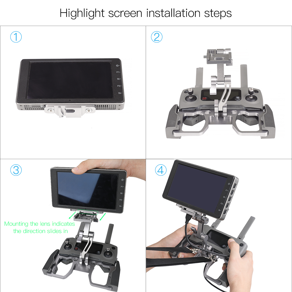 DJI Drone Controller Metal Holder Crystalsky Monitor Mount Phone Tablet Bracket Adapter for DJI MAVIC 2/Mavic Air/SPARK/Mavic