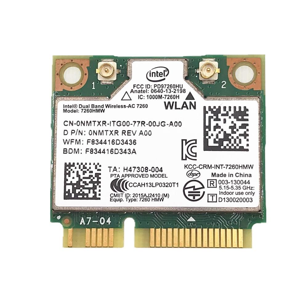 876M Dual Band 2.4+5G Bluetooth V4.0 Wifi Wireless Mini PCI-Express Card For Intel 7260 AC 7260HMW 7265 IT-7265HMW 8260
