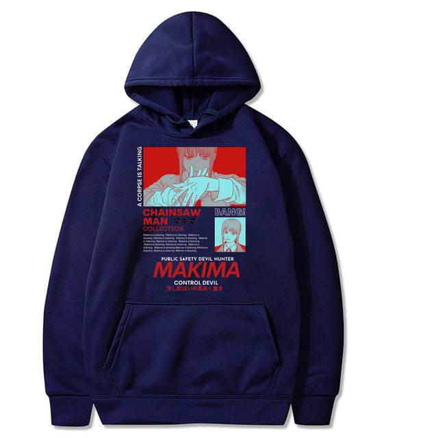 MAKIMA CHAINSAW MAN THEMED HOODIE (10 VARIAN)