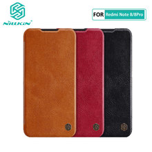 Caes for Xiaomi Redmi Note 8 Note8 Pro Nillkin Qin Series PU Leather Flip Cover For Xiaomi Redmi Note 8 Case