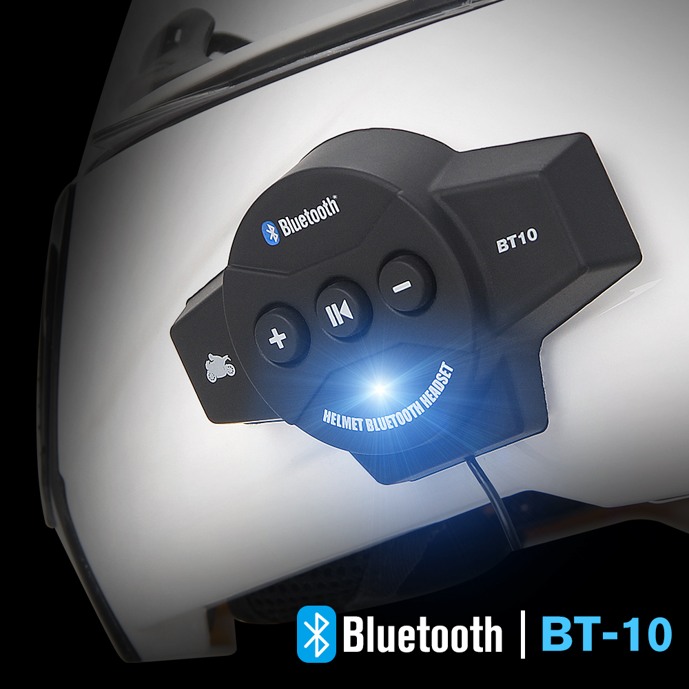 Motorcycle Helmet Headset Wireless Bluetooth Headphone Speaker Handsfree Music Automatic Call Answer Hands-Free BT-10