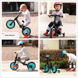 Image 5 - Niemowlę Shining Baby Balance Bike Ride on Toys Walker 2/4 koła regulacja roweru lekki Body Suit dla 2 6Y dzieci prezent