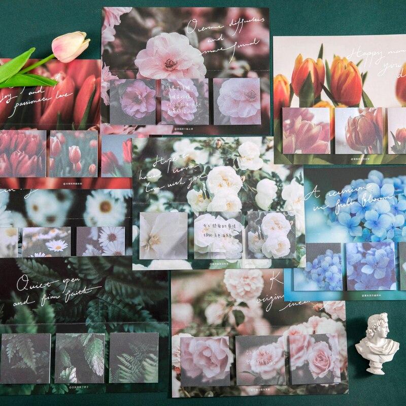 Journamm 60 sztuk Ins stylowe notatniki Daisy kwiaty język kawaii notatki pamiętnik kreatywne notatki Deco Do zrobienia List Scrapbooking Card