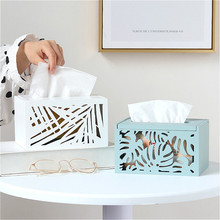 Wooden Hollow Tissue Box Napkin Container Nordic Toilet Paper Storage Holder Paper Tissue Box Bedroom Restaurant Kids Wipes Box cute nordic bear tissue box roll paper storage box round shaped tissue box container dispenser towel napkin tissue holder