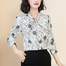 Fashion Autumn Women Chiffon Blouses Shirt Blusas Mujer De Moda Elegant Striped Plus Size Tops