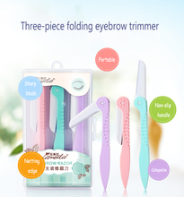 3Pcs/Set Professional Eyebrow Trimmer Portable Shaper Razor Hair Removal Safety Makeup Tool