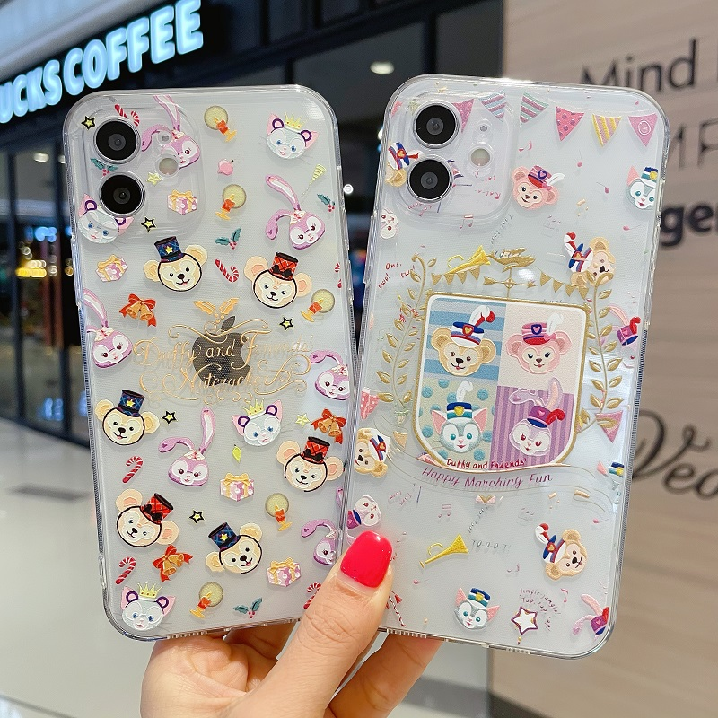 3D Cute Cartoon Rabbit Mouse Head Pattern Phone Case For Iphone 12 Mini 11 Pro Max XS XR 12Pro SE 2020 7 8 Plus X TPU Soft Cover