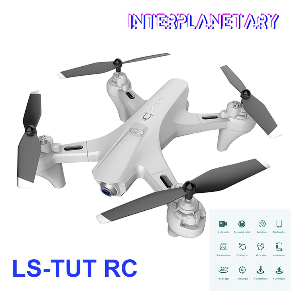 INTERPLANETARY LS-TUT RC Drone with Camera 4k HD Dual Camera WiFi FPV Drone Folding Drone One Key Return RC Quadcopter for Adult