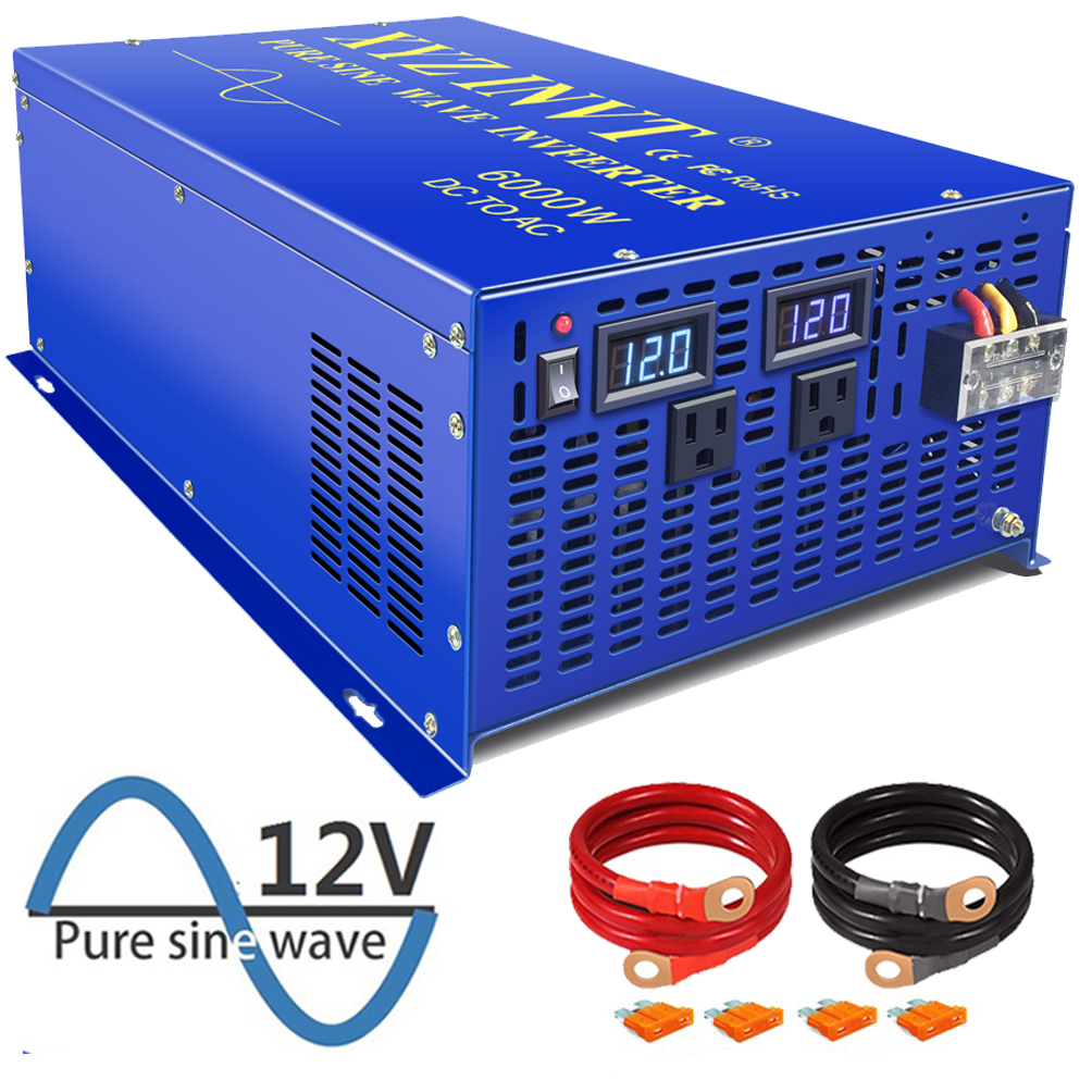New XYZ Peak Power 12000W <font><b>Inverter</b></font> off-grid 12V <font><b>24V</b></font> 48V DC to AC 110V 220V <font><b>6000w</b></font> Solar LED Display Pure Sine Wave <font><b>Inverters</b></font> image