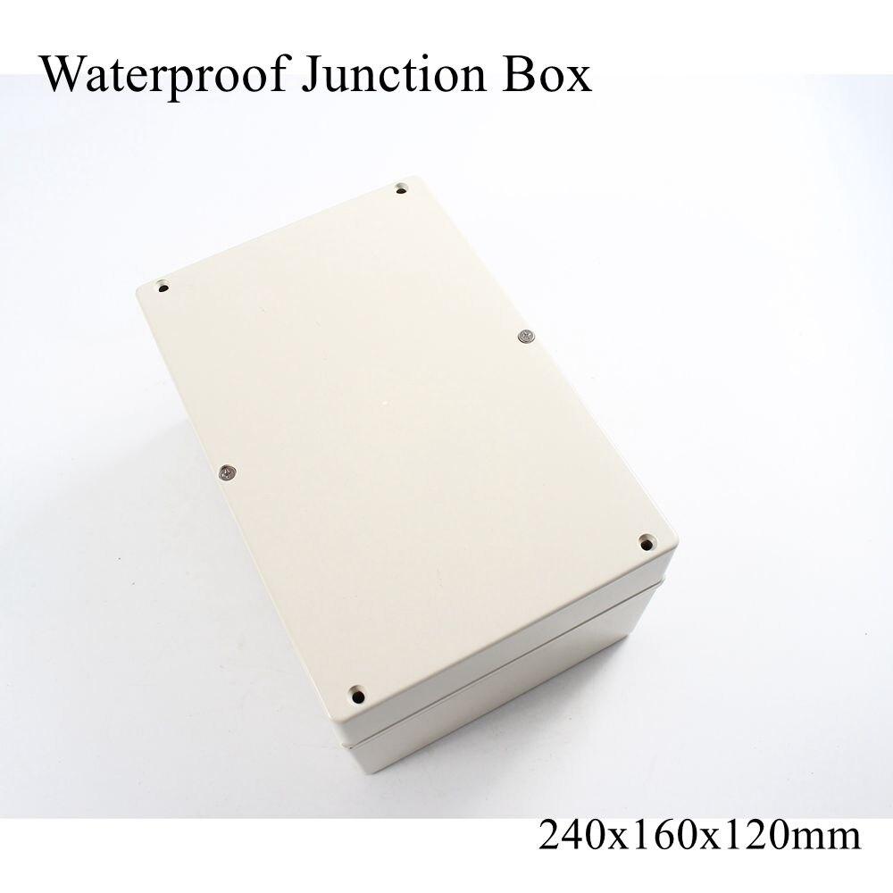 240*160*120 мм Всепогодная распределительная коробка IP65 Водонепроницаемый Пластиковый корпус для электрического проекта корпуса DIY чехол 240x160x120мм