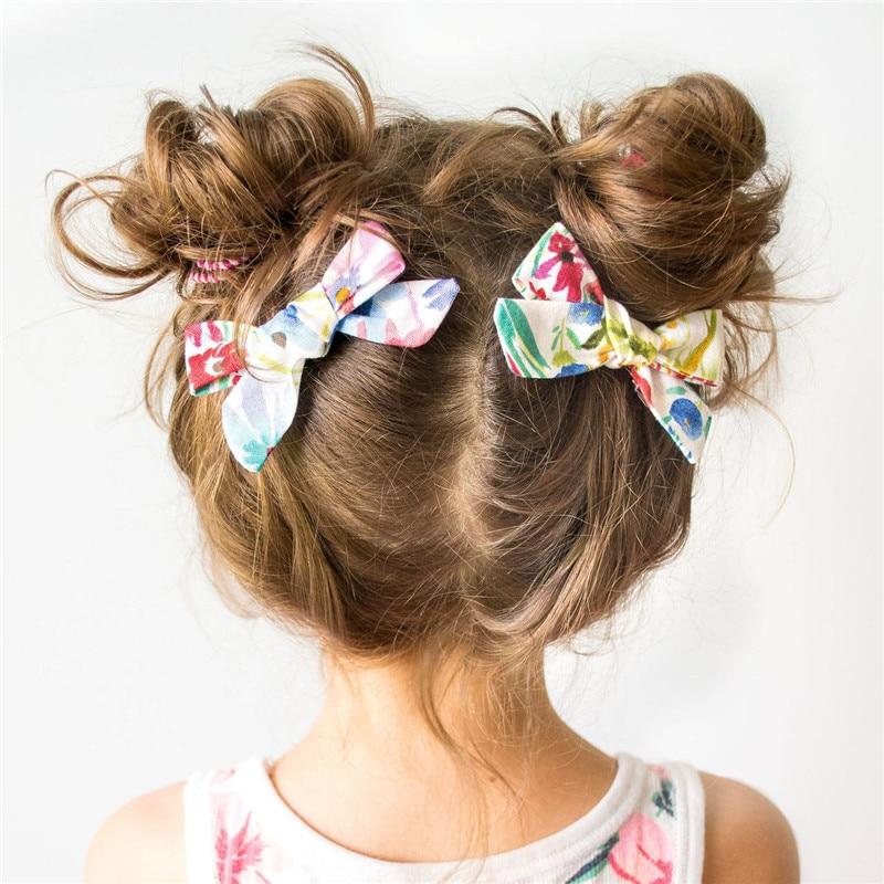 Fashion Cute Baby Print Bow Hair Clip Grosgrain Ribbon Korean Solid Barrette Sweet Girl Hairpin For Baby Girl Hair Accessories