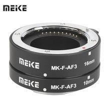 Meike MK-F-AF3 Metal Auto Foco Macro Extension Tube para Fujifilm X-T20 XT2 X-T10 XT3 XT100 X-H1 X-A5 X-PRO2 X-A1 X-T1 XT30 X-T3