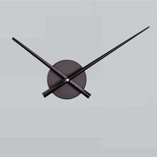 DIY duży haft krzyżykowy wskazówki zegara igły zegary ścienne 3D wystrój sztuka dla domu mechanizm zegara kwarcowego akcesoria (czarny bez ciasta tanie tanio Krótkie wall clock circular Metal 100mm Pojedyncze twarzy 313mm 180g Cyfrowy 30mm grubości płyty Martwa natura Antique style