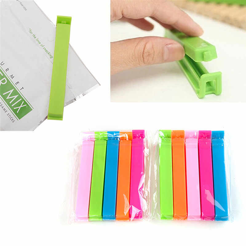 10Pcs/lot Portable Kitchen Sealing Clips Storage Food Snack Sealing Bag Clips Plastic Sealer Clamp Tool Bag Clips for Kitchen