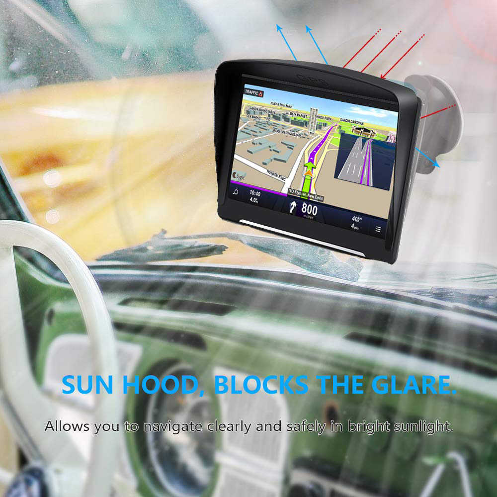 Car GPS navigation 7 inch HD LCD screen FM Navitel satellite voice navigation 2019 latest European map truck GPS Navigator car