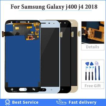 Pantalla OLED TFT de pantalla de LCD para Samsung Galaxy J4 2018 J400 J400F J400H J400P J400M J400G/DS LCD pantalla táctil digitalizador de pantalla táctil de la Asamblea