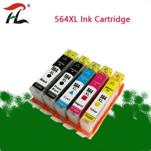 Image 1 - 5 個 564XL 互換インクカートリッジ hp 564XL hp 564 564 のための hp deskjet の 4610 4620 6512 6515 D5460/ d5463/D5468/D7560 インクジェットプリンタ
