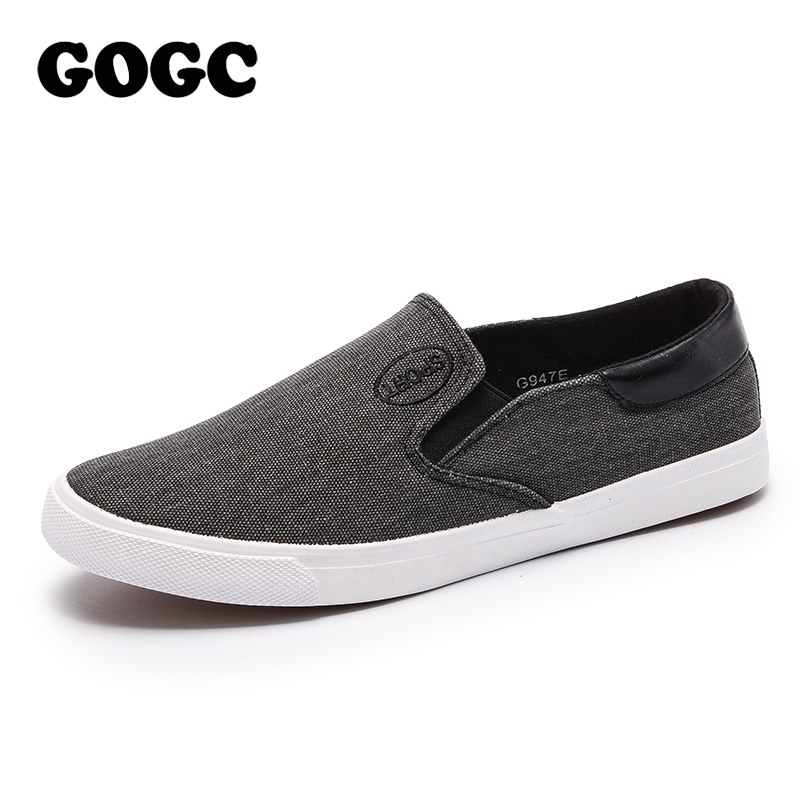 GOGC 2019 New Arrive Style Men Casual Shoes Canvas Male Footwear Comfortable Flat Shoes Slip On Vulcanized Shoes Men Loafers 947