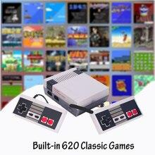 فيديو الألعاب الطفولة وحدة تحكم تتريس 8Bit الكلاسيكية الرجعية NES TV لعبة AV ميناء المدمج في 620 ألعاب المزدوج مقبض اللعبة هدية