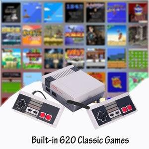 Image 1 - Video oyun çocukluk konsol denetleyici Tetris 8Bit klasik Retro NES TV oyun AV bağlantı noktası dahili 620 oyunları çift oyun kolu hediye
